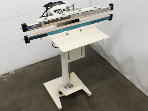 "AIE W-600T MANUAL 24"" Free-Standing Heat Sealer with Stand and Foot Pedal 110V"