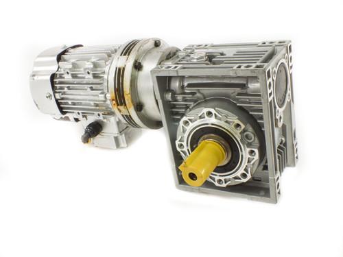 W-Gear NMRV 063 Worm Gear Reducer 70:1 0.12kW Hons Motor YW-5624 380VAC 3-Phase