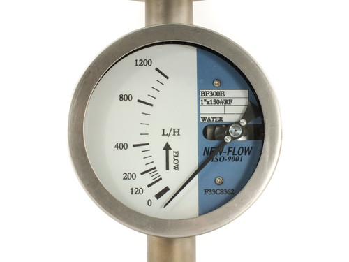 New Flow BF300E Metal Tube Flow Meter Gauge for Gas Liquid and Steam