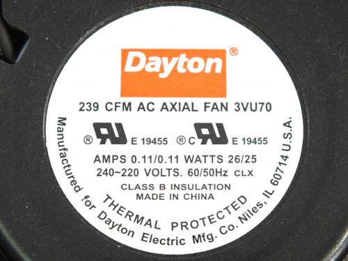 Dayton 3VU70 239CFM AC Blower Fan - 200/220 VAC