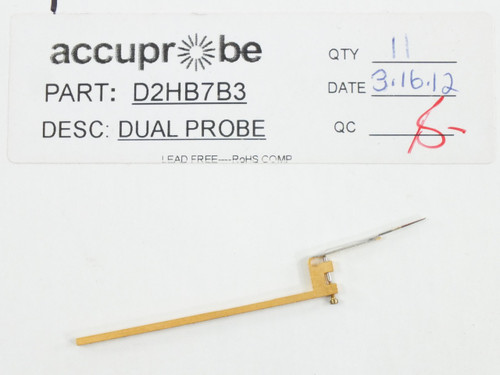 Accuprobe Dual D-Type Probe Standard Long Hard BeCu - USED - D2HB7B3