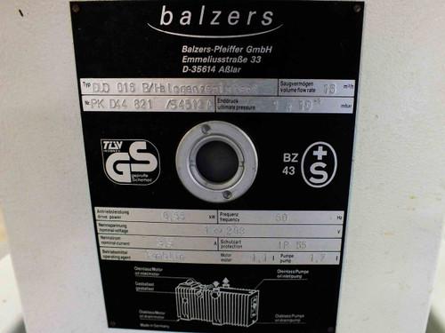 Pfeiffer Balzers Duo 016B Rotary Vane Vacuum Pump - 208 Volt AC Phase-1 0.55 kW