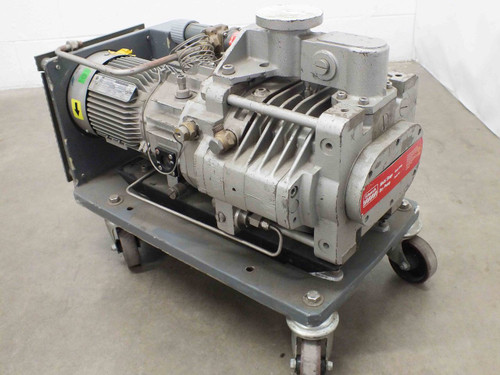 Edwards DP40 Multi Stage Dry Vacuum Pump with 2.2kW Alpak BS 5000 Motor 208/460V