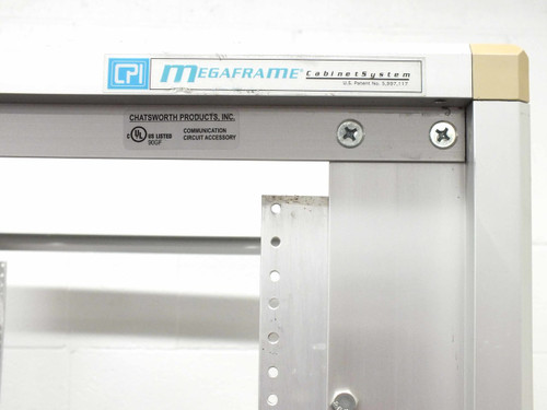"Chatsworth Products 45U CPI 19"" Rackmount Cabinet Aluminum Frame 38"" Deep with Castors"