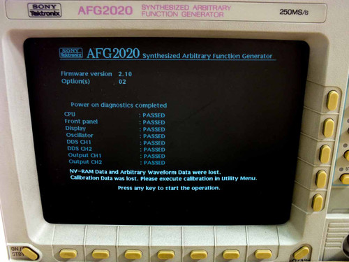 Sony Tektronix AFG2020 Synthesized Arbitrary Function Operator 250MS/s