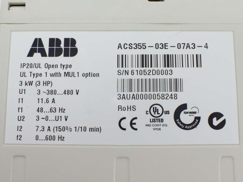ABB ACS355 Machinery Drive with Basic Control Panel Option
