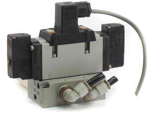 SMC VFR4210-5DZ Valve Dbl Non-Plugin Base MT, VFR4000 Sol Valve 4/5 Port