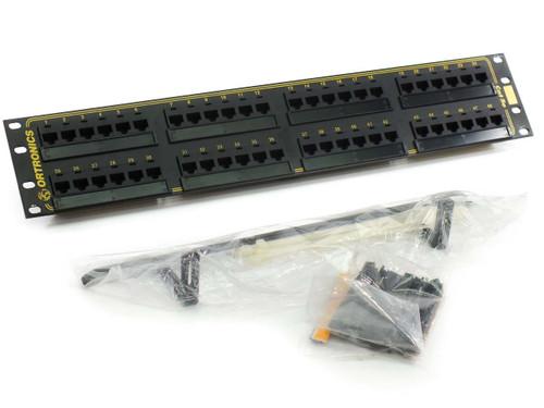 Ortronics OR-851004038 48-Port Cat5e Patch Panel T568B, 110