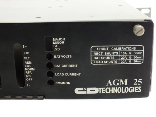 C&D Technologies AGM 25 Compact Remote Power Plant w/ HFM48B7.5 Rectifier
