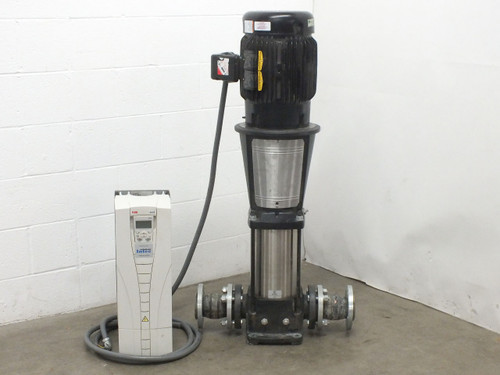 Grundfos CR 32-4 20HP Vertical In-line Centrifugal Pump w/ABB ACH550 HVAC Drive