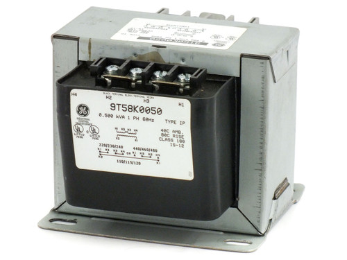 General Electric 9T58K0050 0.5KVA Transformer 220-480V to 110-120V 1-Phase 60Hz