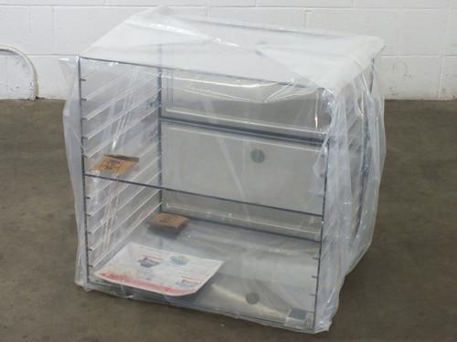 Plas Labs 863-CG Plas-Labs Acrylic Desiccator Clear w/ Gas Port 2 Cube 4 Shelves
