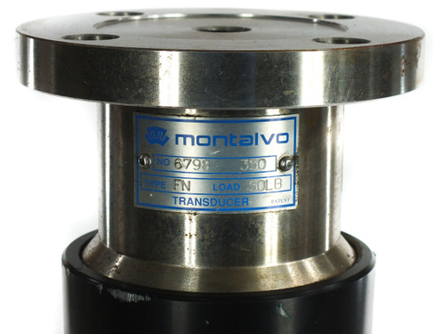"Montalvo 350 Load Cell Transducer Type FN Load 50 LBS with 13.5"" Long Roller"