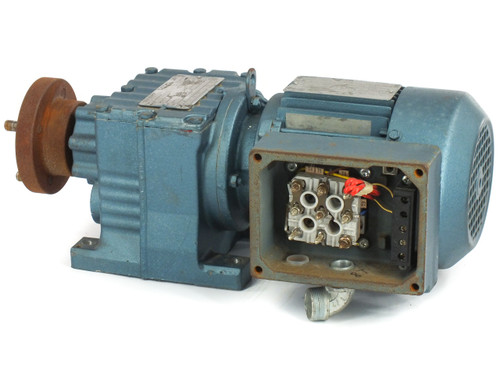 SEW-EURODRIVE R27DT71D4TH 230/430 VAC 3-PH 1/3HP Gear Motor w/ 890LBS/IN Torque