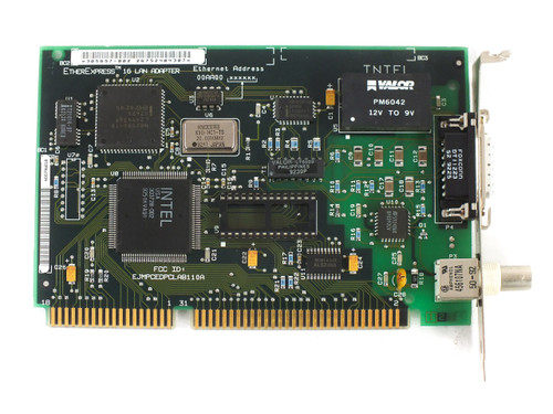 Intel 305897-002 16-Bit ISA EtherExpress 16 8/16 Lan Adapter Card with COAX