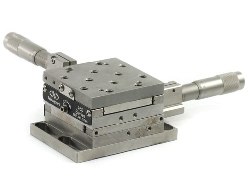 Newport 462-XY-M XY Linear Stage ULTRAlign with 2 SM-25 Vernier Micrometers