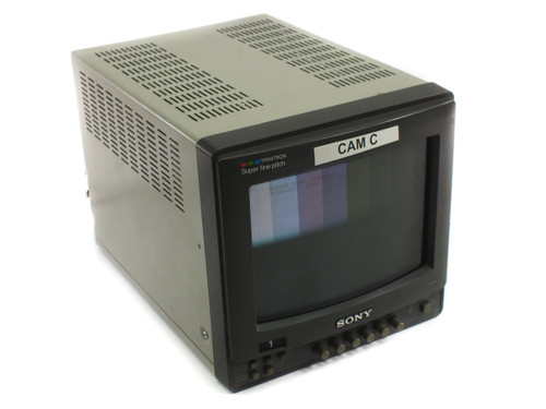 """Sony PMV-8221 8"""" Personal Video Monitor - Color CRT - Vertical Flicker - As Is"""