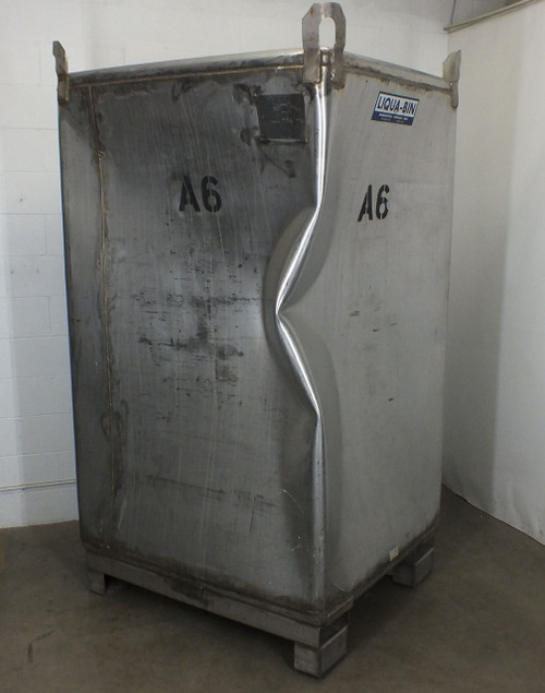 Fabricated Metals 525 Gallon Stainless Steel Tote - Food Grade Liquid Beverage