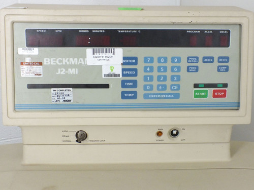 Beckman J2-MI Centrifuge - No Rotor - 208 VAC PH-1 30A - Cut Power Cord - As Is