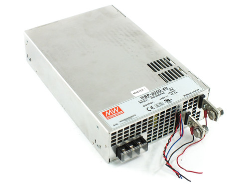 Mean Well RSP-3000-48 3000W Power Supply PRI: 200-240 VAC 20A SEC: 48VDC 62.5A