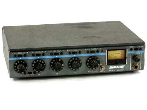 Shure M267 Professional Microphone Mixer Portable, 4 Channel