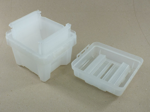ePak epro-6/150 Wafer Carrier 150mm 25-Slot with Base, Lid, and Cassette