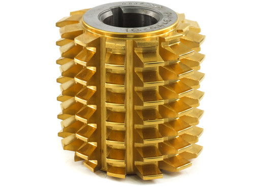 Barit International 3 Mod 20 Deg Gear Cutting Hob HSS with TiN coating 80% life
