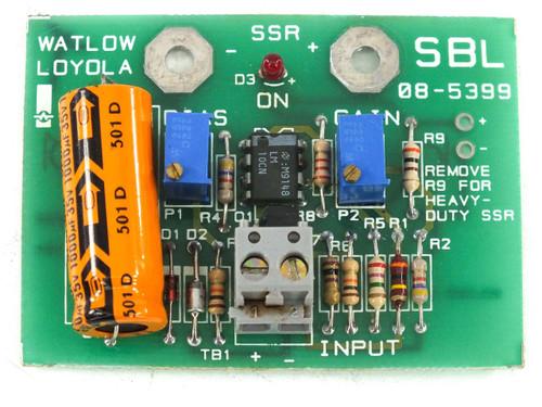 Watlow Loyola SBL 08-5399 Control Card 4-20mA