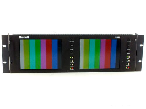 "Marshall V-R682P Dual Panel 6.8"" LCD Monitor 19"" Rack Mount - No Power Supply"