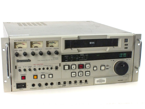 Panasonic AG-7750 Commercial S-VHS Editor VTR S-Video - Bad Auto Loader - As Is
