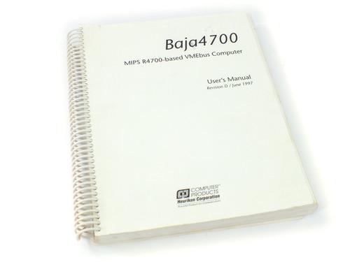 Computer Products Baja4700 User Manual MIPS R4700-based VMEbus Computer Heurikon