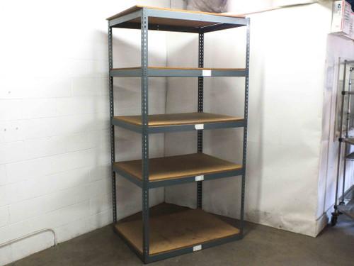 Boltless 48x36x96 Steel Rivet Warehouse Shelving with 5 Shelves 4x3x8 Foot Tall