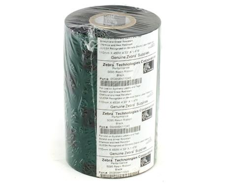 Zebra 05095BK11045 5095 Black Resin Ribbon 4.33 in x 1476 ft 1 Roll 110mm x 450m