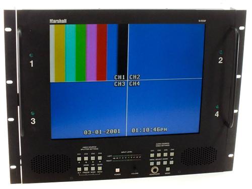 "Marshall V-R154P LCD Video Monitor 15"" Rack Mountable with VGA, TV, Stereo Audio"