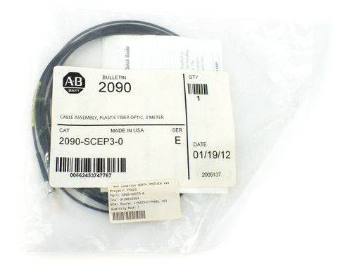 Allen - Bradley 2090-SCEP3-0 Fiber Optic Cable Kinetix, Plastic, No Jacket, 3m