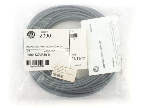 Allen - Bradley 2090-SCVP20-0 Fiber Optic Cable Kinetix, Plastic, 20m