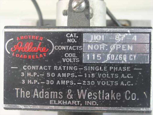 Adams & Westlake Mercury Relay 120 V AC coil 50 /30A 115V, 30A @ 230V 1101-87-4
