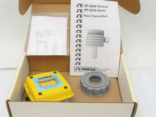 Omega FP-5800 Flow Transmitter Enclosure and Ring Nut - No Probe - New Open Box