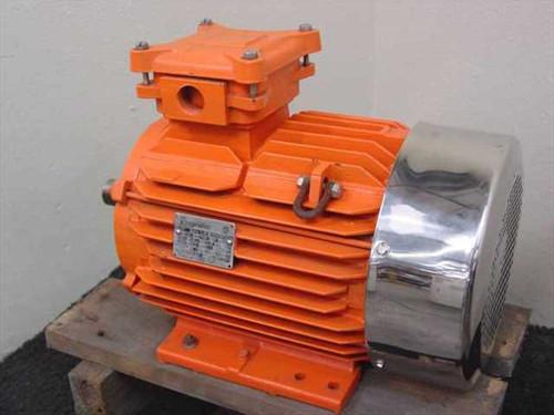 Kingmotor LR36807 7.5 HP High Efficiency Severe Duty Motor - 230/460 VAC 3-Phase