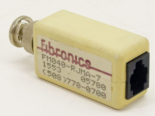 Fibronics FM040-RJMA-7 RJ11 to BNC Cable Adapter for Networking