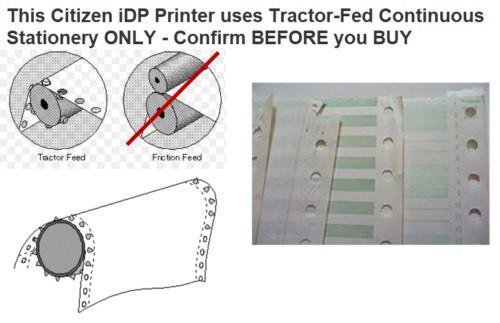 CBM iDP3530 Citizen Tractor Feed Receipt Printer 25-Pin Serial Dot Matrix