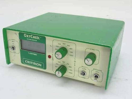 Critikon 2000 Oxychek Oxygen Monitor 9 VDC - No Power Cord