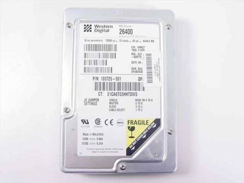 "Compaq 6.4GB 3.5"" IDE Hard Drive Western Digital AC26400 (166973-001)"