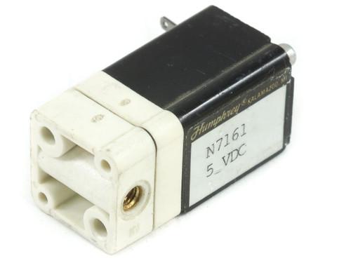 Humphrey N7161 5VDC Solenoid Valve - 3E1 50 - No Connectors / Ports