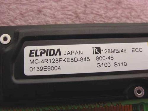 Elpida MC-4R128FKE8D-845 128MB ECC Rambus DRAM Memory Stick