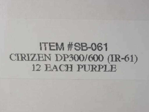 Citizen SB-061 Ink Ribbon - Purple - Box of 12 - DP300/600 IR-61