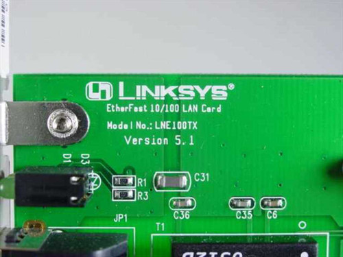 Linksys EtherFast 10/100 LAN PCI Card PCB-E578-AA5 (LNE100TX)