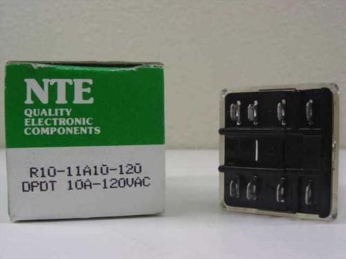 NTE R10-11A10-120 Relay DPDT 10A-120V - NOB Unit