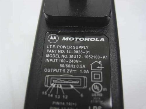 Motorola AC Adapter 5.2VDC 1.2A MU12-1052100-A1 (14-0028-01)
