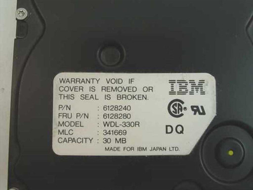 IBM 6128280 30MB MCA Hard Drive for 8550 / 8555sx - WDL-330R - As Is / For Parts